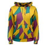 Bursting Star Poppy Yellow Violet Teal Purple Women s Pullover Hoodie