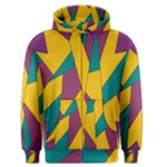 Bursting Star Poppy Yellow Violet Teal Purple Men s Zipper Hoodie