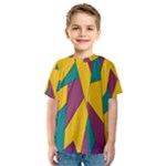 Bursting Star Poppy Yellow Violet Teal Purple Kid s Sport Mesh Tee