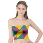 Bursting Star Poppy Yellow Violet Teal Purple Tube Top
