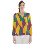Bursting Star Poppy Yellow Violet Teal Purple Wind Breaker (Women)