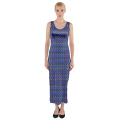 Celtic Cross Fitted Maxi Dress