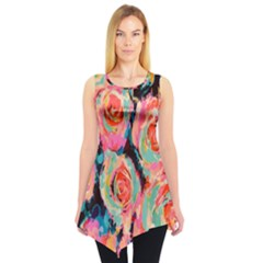 Pastel Painted Roses Sleeveless Tunic by LisaGuenDesign