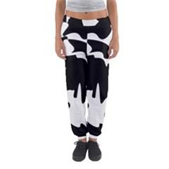 Black And White Elegant Design Women s Jogger Sweatpants by Valentinaart