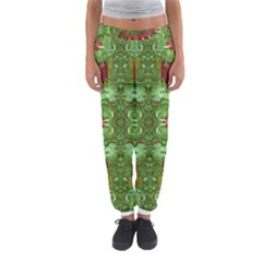 Bleeding Hearts Forest Women s Jogger Sweatpants by pepitasart
