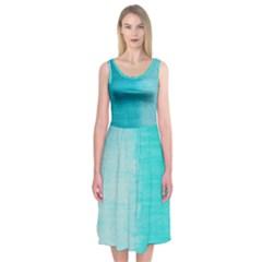 Like The Sea Midi Sleeveless Dress by Contest2508689