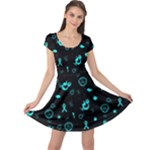 POTS Mermaid Print Cap Sleeve Dresses