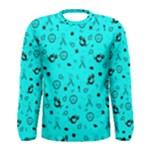 POTS Mermaid Print In Turquoise Men s Long Sleeve Tee