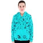 POTS Mermaid Print In Turquoise Women s Zipper Hoodie