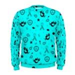 POTS Mermaid Print In Turquoise Men s Sweatshirt