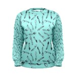 Spoonie Strong Print in Light Turquiose Women s Sweatshirt