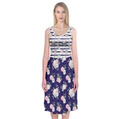 Floral Dress 2 Midi Sleeveless Dress by Contest2517501