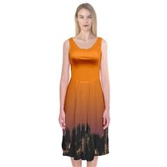Pinetrees Sunset Midi Sleeveless Dress by Contest2504870
