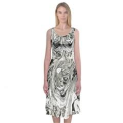 Mono Marble Midi Sleeveless Dress by Contest2494934