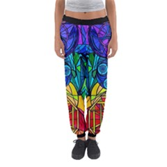 Arcturian Conjunction Grid   Women s Jogger Sweatpants by tealswan