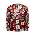 Cvdr0098 Red White Black Flowers Women s Sweatshirt