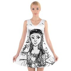 Monalisa V Neck Sleeveless Dress by ArtfulClothing