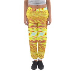 Yellow Seamless Psychedelic Pattern Women s Jogger Sweatpants by Amaryn4rt