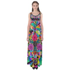 Positive Intention   Empire Waist Maxi Dress by tealswan