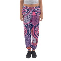 Colorful Bohemian Purple Leaves Women s Jogger Sweatpants by Brittlevirginclothing