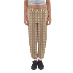 Pattern Background Brown Lines Women s Jogger Sweatpants by Simbadda