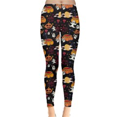 Colorful Halloween Cartoon Bright Women s Leggings by CoolDesigns