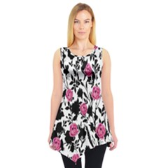 Black&pink Sleeveless Tunic Top by CoolDesigns