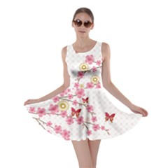 White Blossom Skater Dress by CoolDesigns