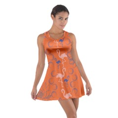 Flamingo Orange Cotton Racerback Dress by CoolDesigns