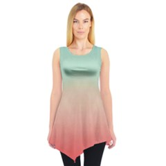Mint & Orange Gradient Tie Dye Tunic Top by CoolDesigns
