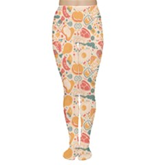 Colorful Food Pattern Suitable For Food Packaging Women s Tights by CoolDesigns
