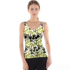 Green Pattern Bone A Dog Tank Top by CoolDesigns