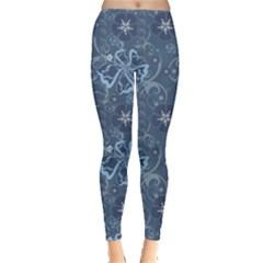 Blue Blue Hawaii Stylish Pattern Leggings by CoolDesigns