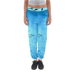 Blue Night Portrait Background Women s Jogger Sweatpants by Nexatart