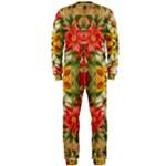 Vintage Retro Romantic Floral OnePiece Jumpsuit (Men)