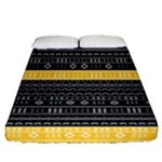 Gold and Black Modern Mudcloth Fitted Sheet (Queen Size)
