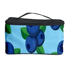 Fruit Nordic Grapes Green Blue Cosmetic Storage Case by Mariart