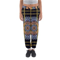 Blue Bloom Golden And Metal Women s Jogger Sweatpants