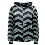 CHEVRON2 BLACK MARBLE & ICE CRYSTALS Women s Pullover Hoodie