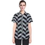 CHEVRON2 BLACK MARBLE & ICE CRYSTALS Women s Short Sleeve Shirt