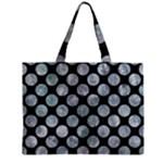 CIRCLES2 BLACK MARBLE & ICE CRYSTALS (R) Zipper Mini Tote Bag