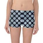 CIRCLES2 BLACK MARBLE & ICE CRYSTALS (R) Reversible Boyleg Bikini Bottoms