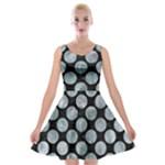 CIRCLES2 BLACK MARBLE & ICE CRYSTALS (R) Velvet Skater Dress
