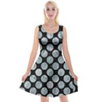 CIRCLES2 BLACK MARBLE & ICE CRYSTALS (R) Reversible Velvet Sleeveless Dress