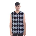 DIAMOND1 BLACK MARBLE & ICE CRYSTALS Men s Basketball Tank Top