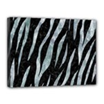 SKIN3 BLACK MARBLE & ICE CRYSTALS (R) Canvas 16  x 12