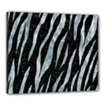 SKIN3 BLACK MARBLE & ICE CRYSTALS (R) Canvas 24  x 20