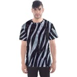 SKIN3 BLACK MARBLE & ICE CRYSTALS (R) Men s Sports Mesh Tee