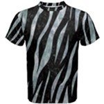 SKIN3 BLACK MARBLE & ICE CRYSTALS (R) Men s Cotton Tee