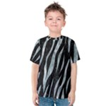 SKIN3 BLACK MARBLE & ICE CRYSTALS (R) Kids  Cotton Tee